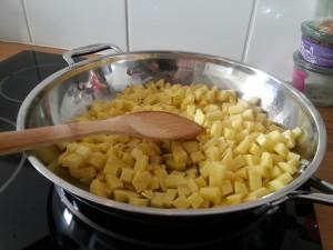 Cuisson des pommes de terre sautées