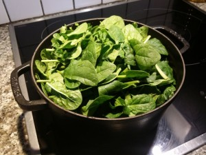 Préparer les épinards frais